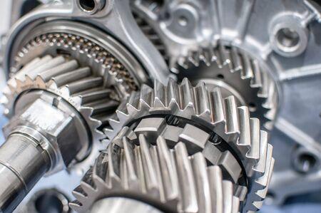 Photo pour Stainless steel transmission gears - image libre de droit