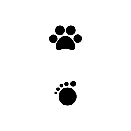 Illustration for Foot  Logo Template vector symbol nature - Royalty Free Image