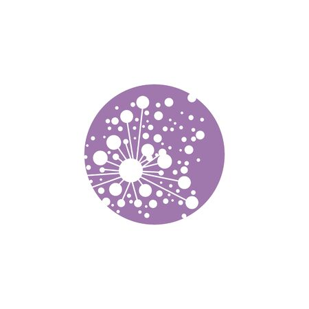 Dandelion Flower Wave Logo Template Vector Symbol Nature Royalty