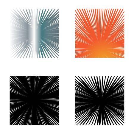 Illustration pour Set Speed line comik Logo Template vector symbol nature - image libre de droit