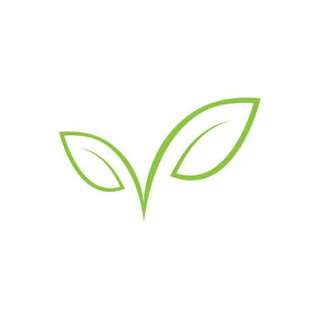 Illustration pour Leaf Template vector symbol nature - image libre de droit