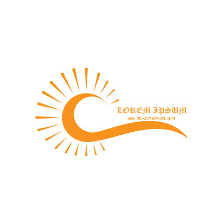 Illustration for Sun Vector illustration Icon Logo Template design - Royalty Free Image