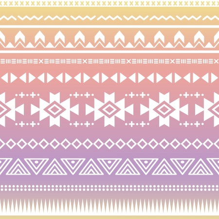 Watercolor Ombre Tribal Aztec