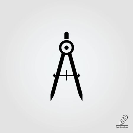 Drawing compasses icon
