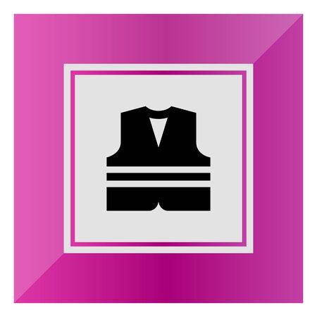 Safety vest icon