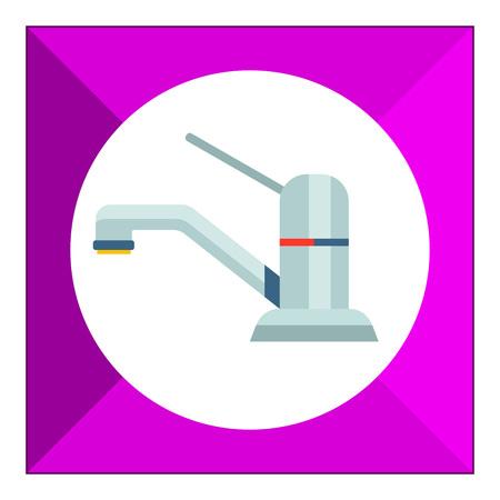 Icon of chrome mixer tap