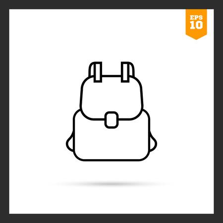 Illustration pour Backpack icon - image libre de droit