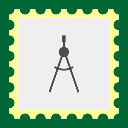 Icon of drawing compasses in circle