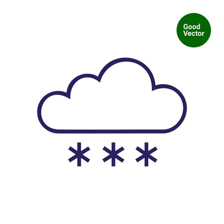 Icon of cloud and snowflakes