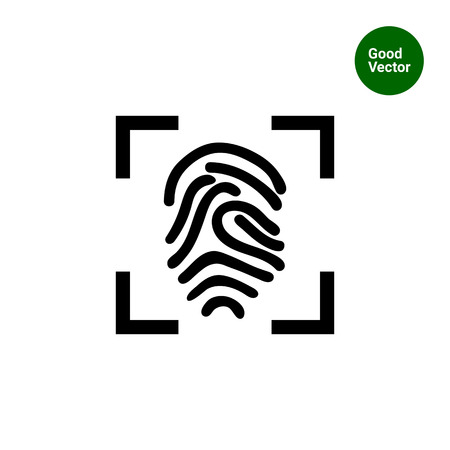 Icon of finger print in frame