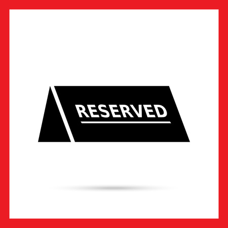 Vector icon of black reserved table sign
