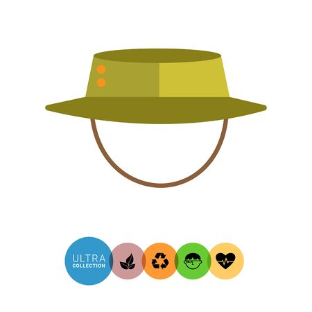Vector icon of hat with string