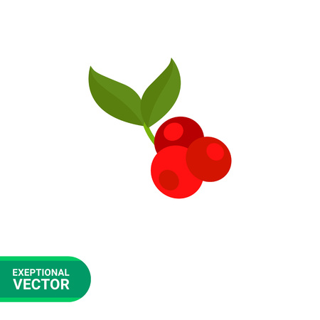 Icon of three red coffee cherries and two green leaves