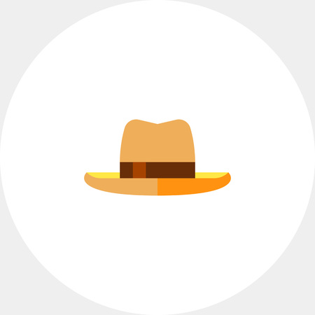 Illustration for Man Summer Hat Icon - Royalty Free Image