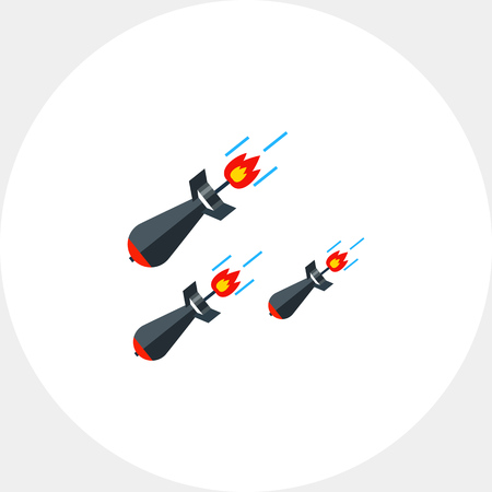 Three Falling Missiles Icon