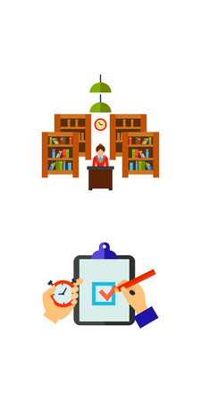 Library icon set Vector illustration.