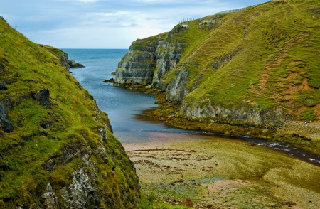 cliffs at north of Scotland at Highlands at autumn