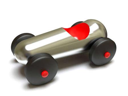 Chrome toy car.