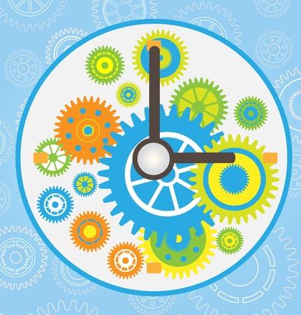 gear clock vector