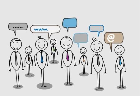 Illustration pour businessman community social network  - image libre de droit