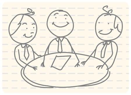 Illustration pour business meeting teamwork  - image libre de droit
