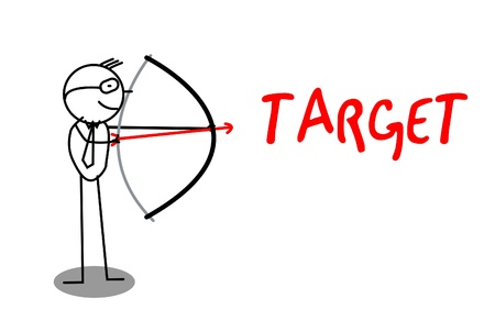 Archery Businessman Target text