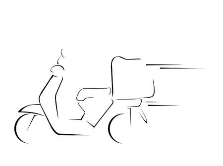 Illustration pour delivery motorcycle  - image libre de droit