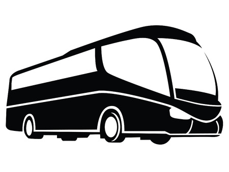 Illustration for Bus Symbol - Royalty Free Image