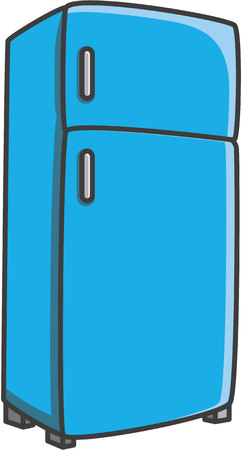 Refrigerator vector cartoon illustration