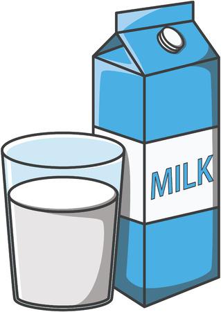 Illustration pour Milk doodle illustration design - image libre de droit