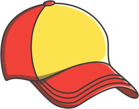 Illustration for Cap doodle illustration design - Royalty Free Image