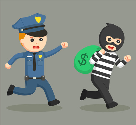 police office pursuit bank thief
