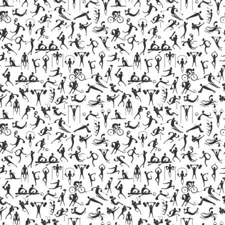 Illustration pour people symbols, representing different sport activities and athletics - image libre de droit