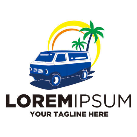 Illustration for travel car logo template - Royalty Free Image