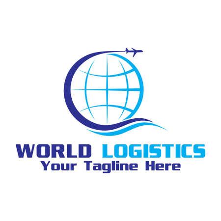 Illustration pour world shipment, vector logo illustration. - image libre de droit