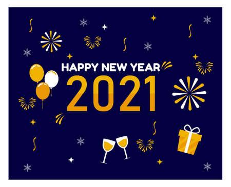Vektor für Flat design Happy New Year background - Lizenzfreies Bild
