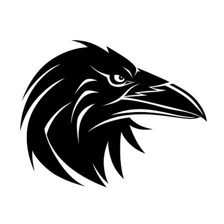 Illustration pour Raven portrait - image libre de droit