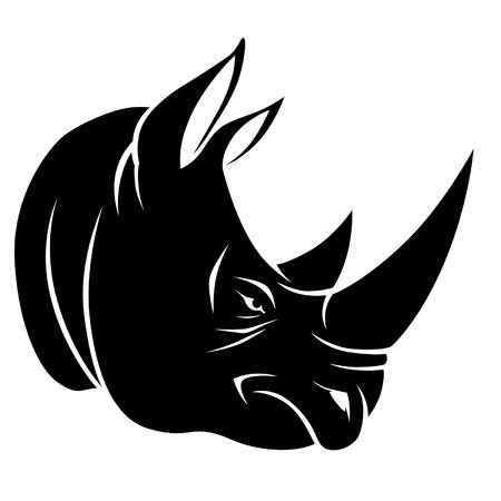 Ilustración de Rhino head - Imagen libre de derechos