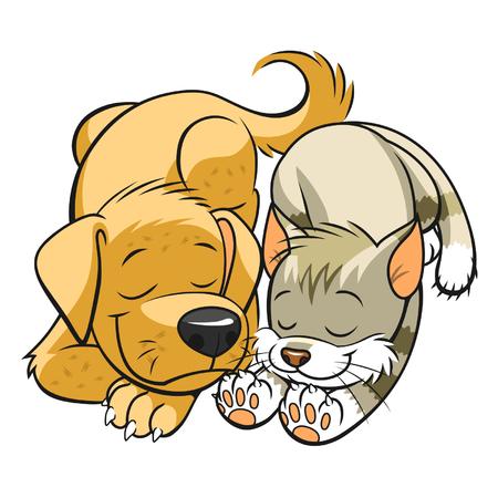 Ilustración de Pets sleeps - Imagen libre de derechos