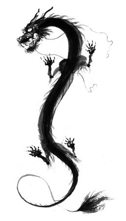 Foto de ink asian dragon - Imagen libre de derechos