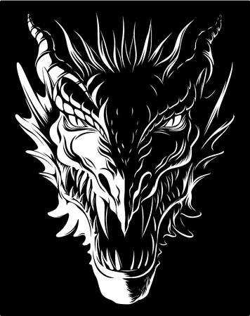 Illustration for Dragon in darkness - Royalty Free Image
