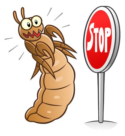 Ilustración de Stop louse - Imagen libre de derechos