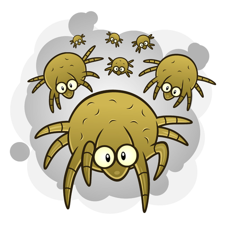 Illustration pour Dust mites - image libre de droit