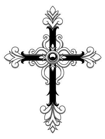Illustration for Ornamental Cross - Royalty Free Image