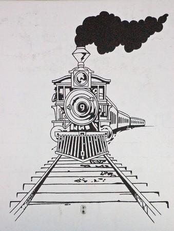 Foto de Train Drawing - Imagen libre de derechos