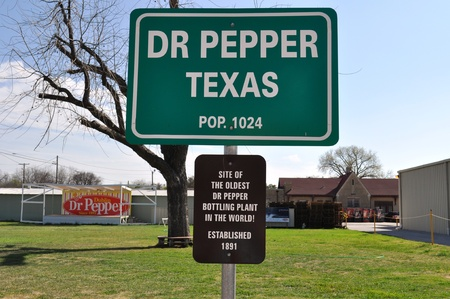 Sign Dr Pepper Texas