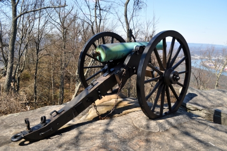 Civil War Cannon overlooks Chattanooga Tennessee