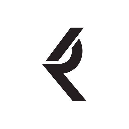 R K / K R letter logo design vector