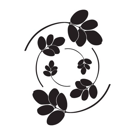 Illustration pour moringa leaves vector illustration on white background - image libre de droit