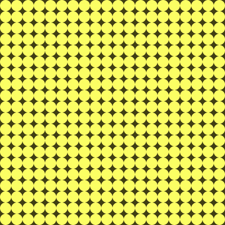 Seamless pattern with many little yellow circles